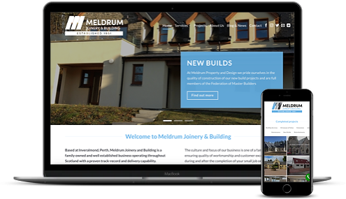 Meldrum Joinery and Building new website by AJD Digital