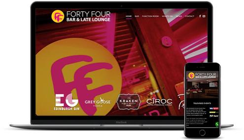 Forty Four Bar new website by AJD Digital