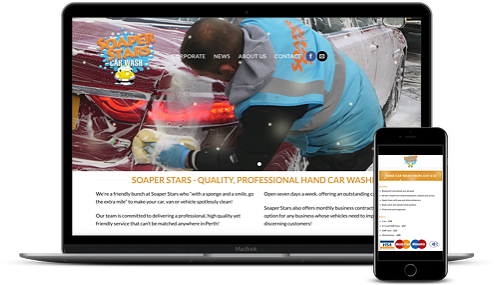Soaper Stars new website by AJD Digital