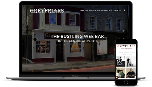 Greyfriars Bar new website by AJD Digital