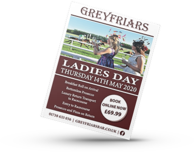 Greyfriars Bar Ladies Day Poster AJD Digital